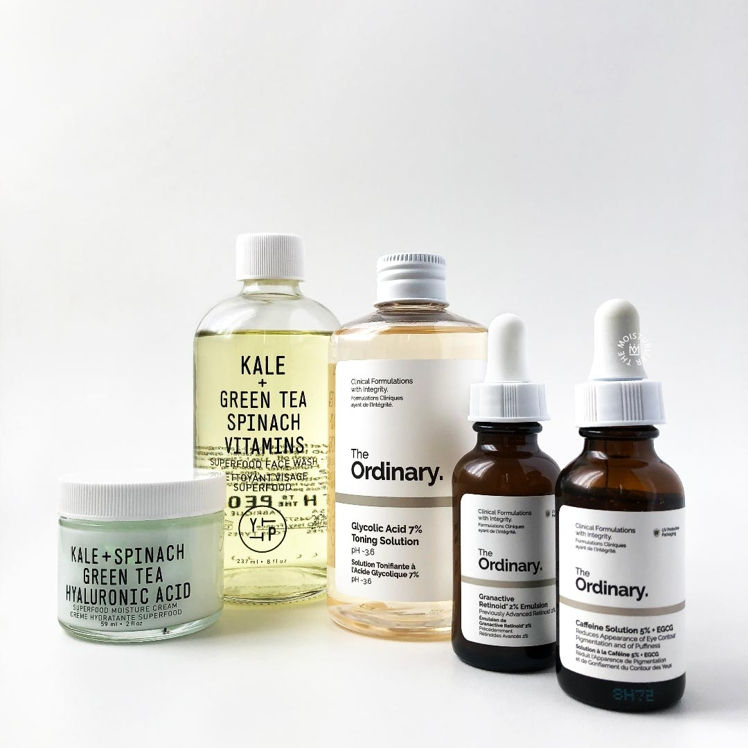 Night routine for dehydrated skin