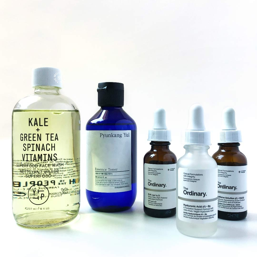 Morning routine for dehydrated skin