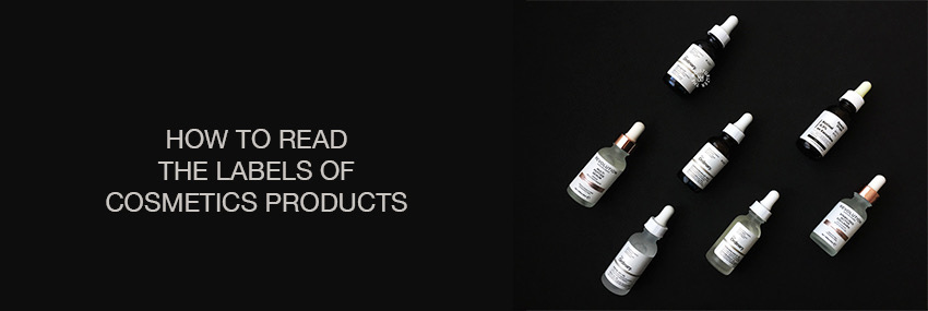 Header The Moisturizer - How to read the labels of cosmetics products