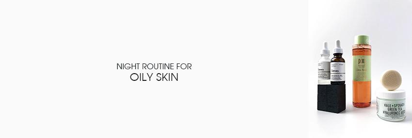 Header The Moisturizer - Night routine for oily skin