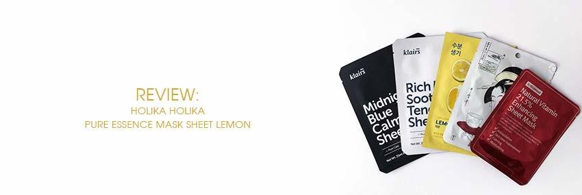Cabecera The Moisturizer - REVIEW: Holika Holika Pure Essence Mask Sheet Lemon