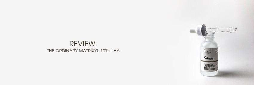 Cabecera The Moisturizer - REVIEW: The Ordinary Matrixyl 10% + HA