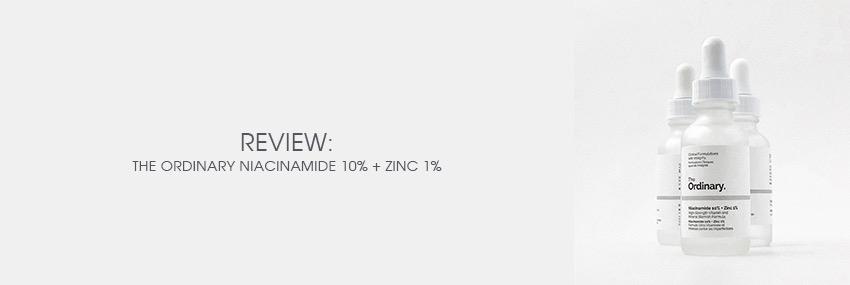 Cabecera The Moisturizer - REVIEW: Niacinamide 10% + Zinc 1%