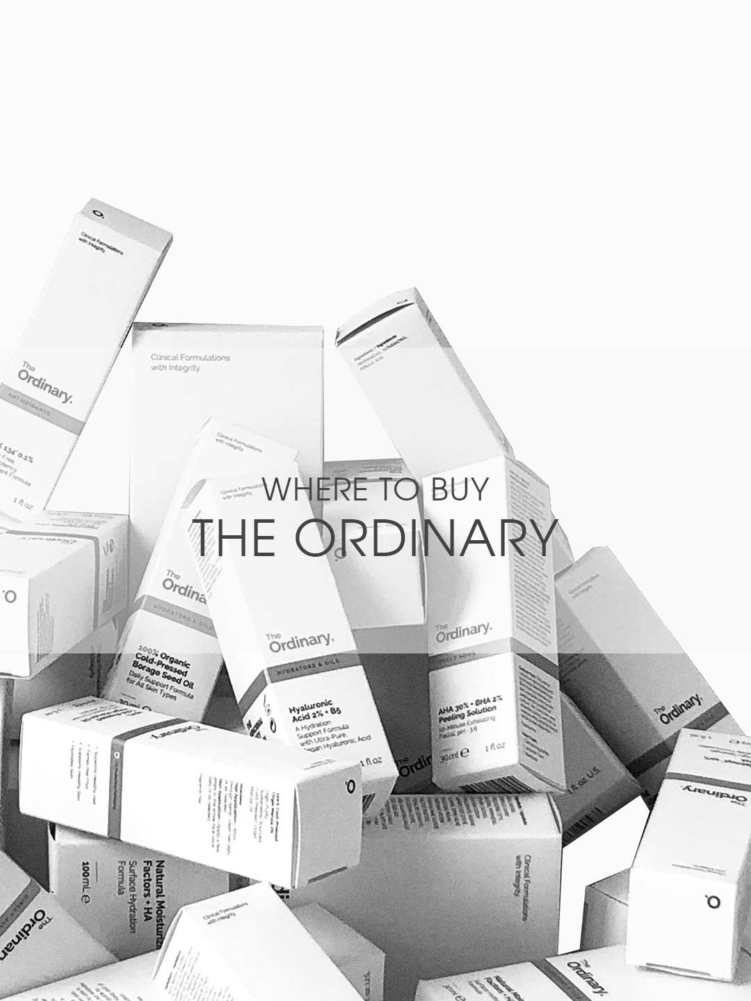 The Moisturizer - Where to buy The Ordinary products