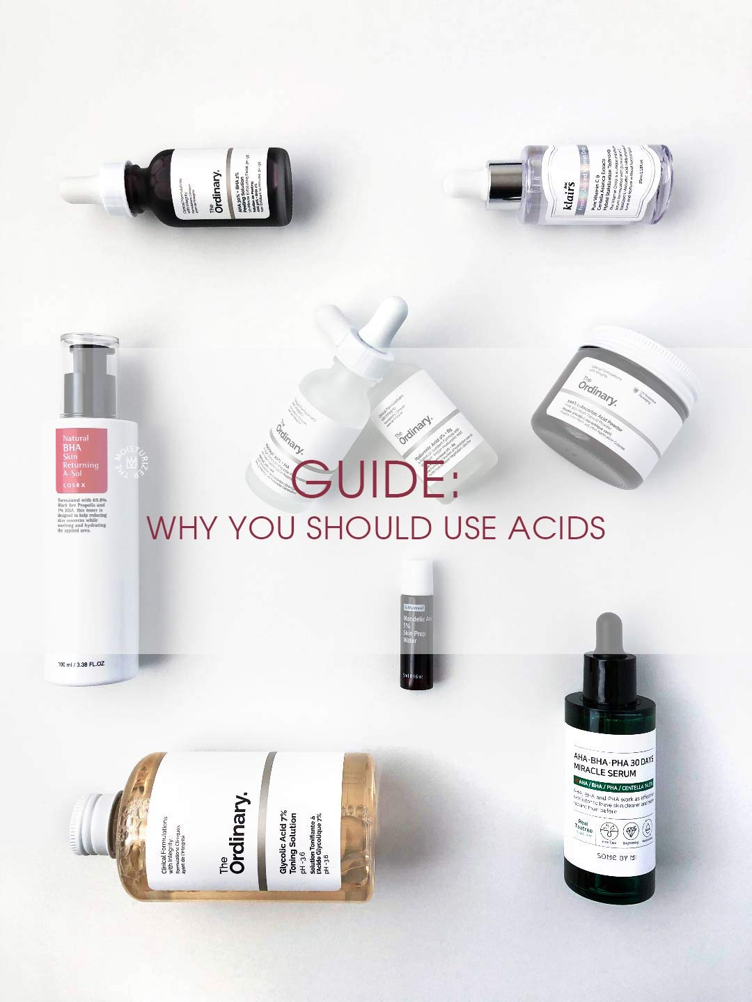 The Moisturizer - GUIDE: Why you should use acids in your skincare routine