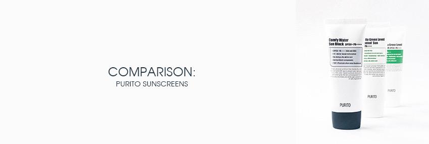 Header The Moisturizer - COMPARISON: Purito Sunscreens