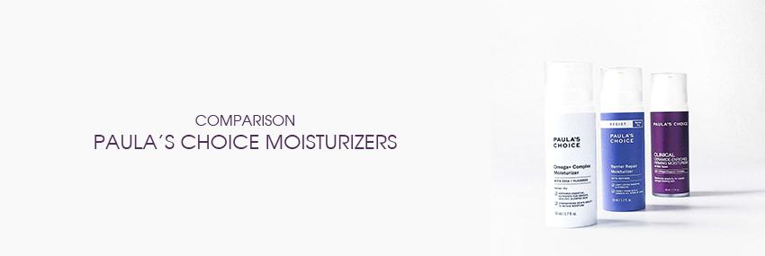 Header The Moisturizer - COMPARISON: Paula's Choice Moisturizers