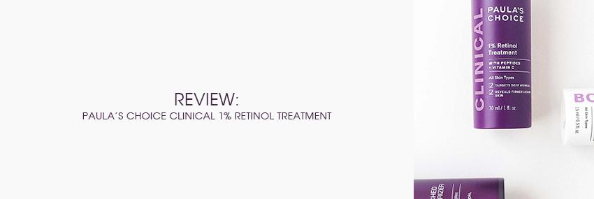 Header The Moisturizer - REVIEW: Paula's Choice Clinical 1% Retinol Treatment